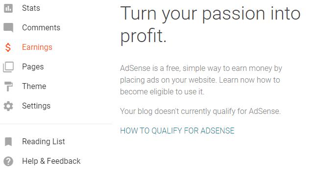 qualify for Adsense